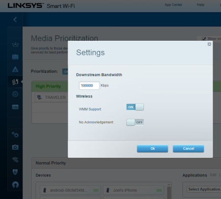 linksys1900acSettingsSlowDownload